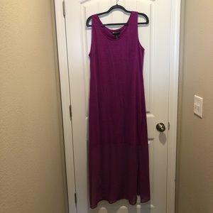 NWT LANE BRYANT Purple Maxi Mixed Fabric 14/16